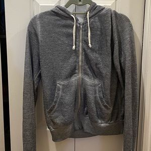 Grey Wildfox zip up hoodie